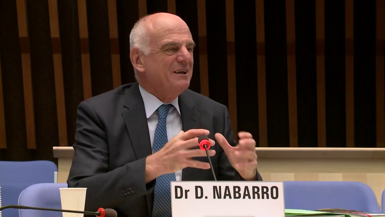 WHO: Dr David Nabarro at the Director-General candidates forum - YouTube