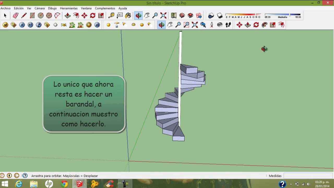 Hacer una escalera de caracol en sketchup express hd for Como hacer una escalera en caracol