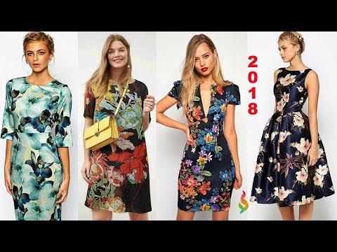 Модные платья 2018 с цветочным принтом фото 💎 Тренды сезона, новинки лета 🌺 Яркая мода на цветы