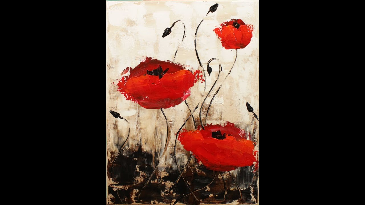 Impressionist poppies step by step acrylic painting on canvas for impressionist poppies step by step acrylic painting on canvas for beginners mightylinksfo
