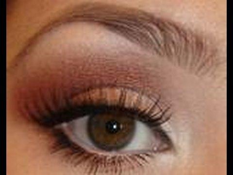 Brown & Maroon Eye Shadow Tutorial - YouTube