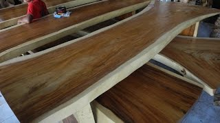 Solid Wood Dining Table | Exotic Wood Slabs