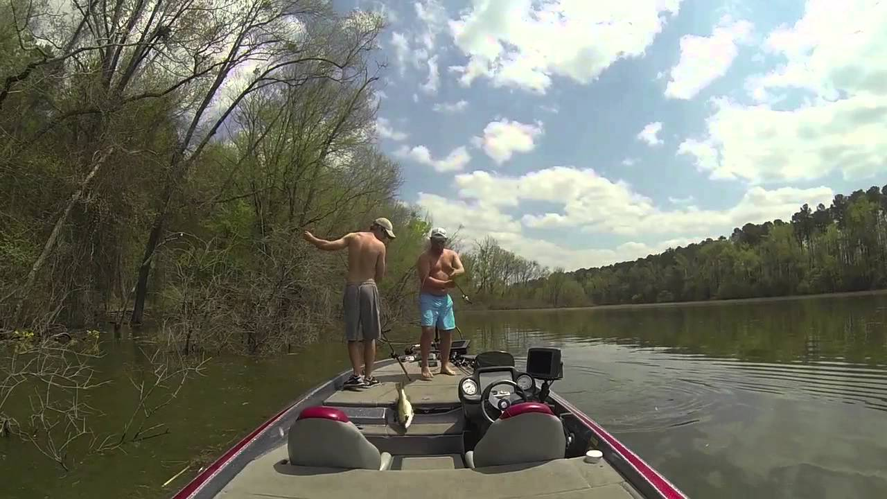Pickwick lake bass fishing april 12 2014 youtube for Pickwick lake fishing report