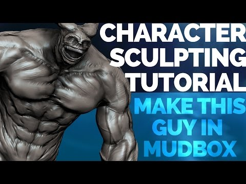How to SCULPT CHARACTERS in Mudbox - beginner sculpting tutorial, pt 1