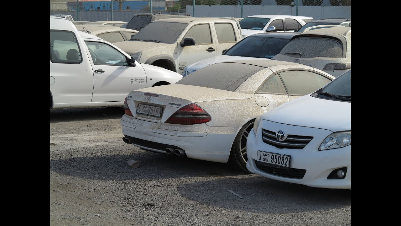 Police Impound Auction >> one of Dubai's car impounds - YouTube