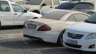 one of Dubai's car impounds