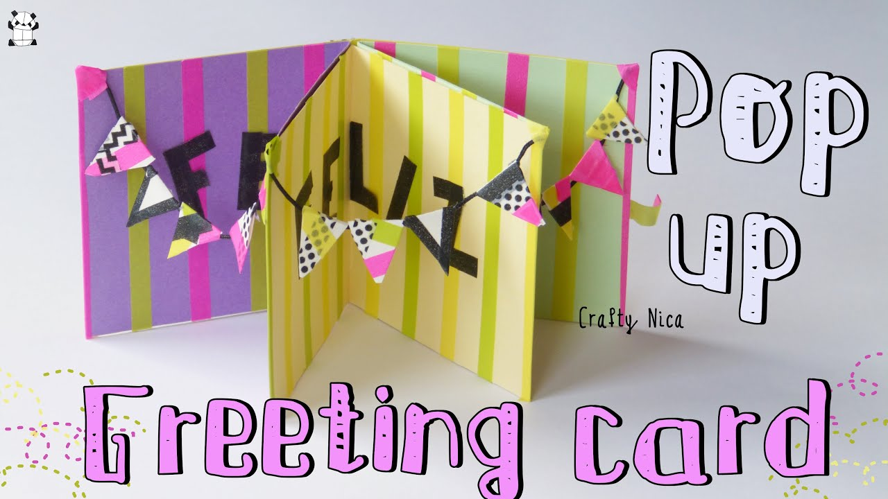 How To Make A Pop Up Greeting Card Card Making Ideas Birthday