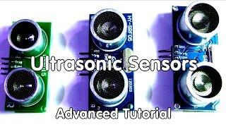 #40 Ultrasonic Distance Sensors Arduino Tutorial and Comparison for HC-SR04, HY-SRF05, US-015
