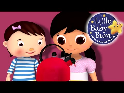 Thumbnail: Polly Put The Kettle On | Nursery Rhymes | Original Version By LittleBabyBum!