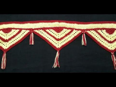 CROCHET SIMPLE TORAN [ HINDI], Vinkam   Woolen Toran patti