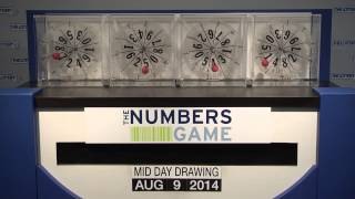 Midday Numbers Game Drawing: Saturday, August 9, 2014