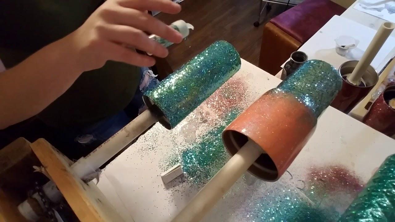 Chunky Glitter On Epoxy Youtube