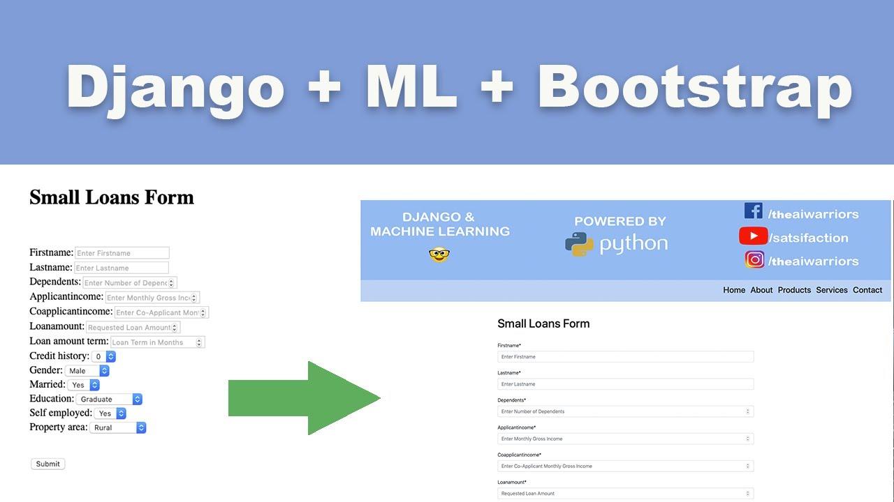 Django Machine Learning Bootstrap All in One | Learn Django Fast