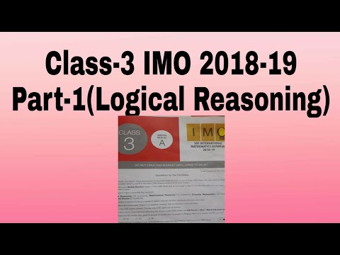 IMO for class 3 # previous year paper # 2018-19 # with