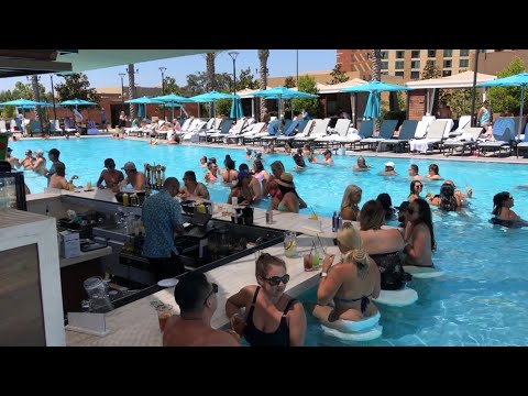 The Cove Pool At Pechanga Resort And Casino - Walkthrough Tour - Temecula California