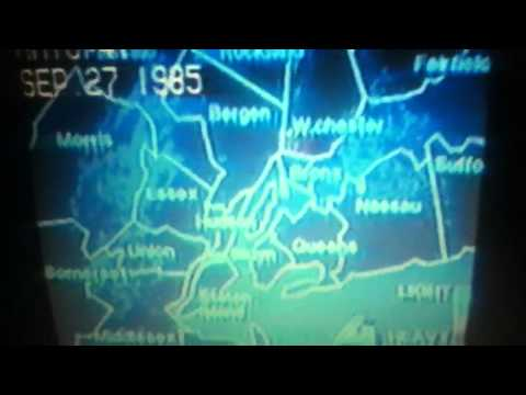Hurricane Gloria Hits NYC 1985.
