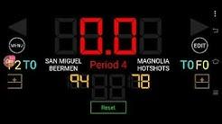 PBA LIVE SCORE: MAGNOLIA HOTSHOTS VS.  SAN MIGUEL BEERMEN   Opening game of 45th season