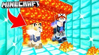 SUPER CRAZY LAVA RUN MINECRAFT | Vito i Bella