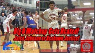 Jalen Johnson & Marlon Ruffin vs Keshawn Justice!! Sun Prairie and Madison East GO AT IT!
