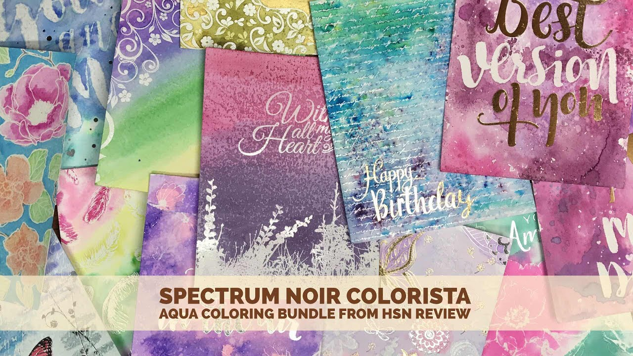 Spectrum Noir Colorista Aqua Coloring Bundle From HSN Review