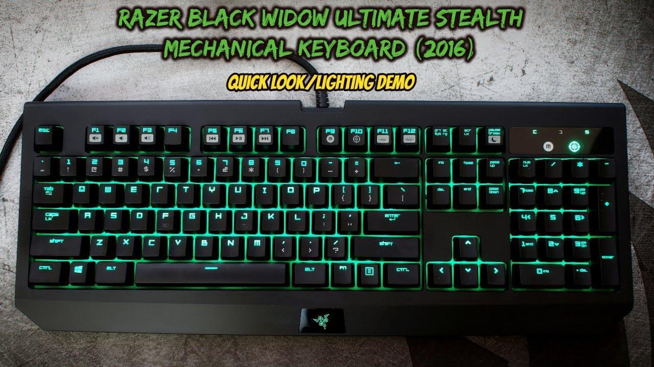Razer Black Widow Ultimate Stealth Mechanical Keyboard Quick Look