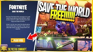 Fortnite (Season 9) - How To Play Save The World For FREE Without Any Purchases (STW Free Glitch)