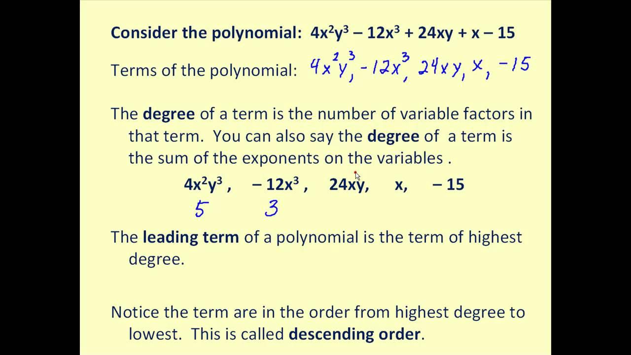 medium resolution of Polynomials (solutions