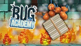 ЖАРКАЯ ДОСТАВКА ПИЦЦЫ и ПОЛНЫЙ ПИКАССЕЦ! Угарные мухи в весёлой игре Bug Academy #6