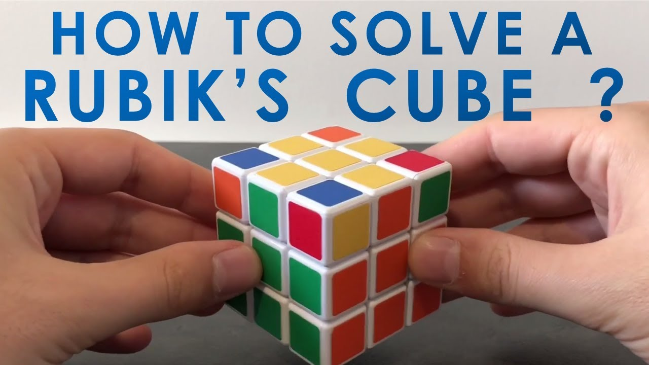 How to solve a Rubik's cube 3x3 : Detailed method and formulas