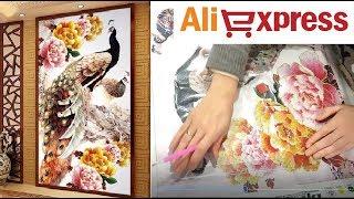 АЛМАЗНАЯ ВЫШИВКА АЛИЭКСПРЕСС алмазная мозаика - Распаковка посылки с aliexpress