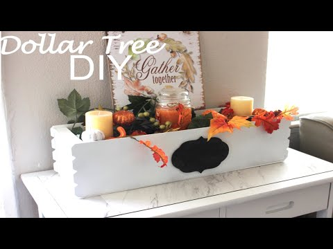 DOLLAR TREE DIY|FLOWER BOX CENTERPIECE|FALL DECOR 2018 |FARMHOUSE DECOR