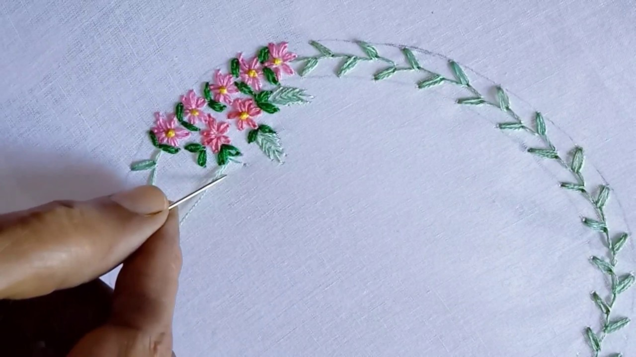 Hand Embroidery Hand Embroidery Design For Beginners Embroidery For