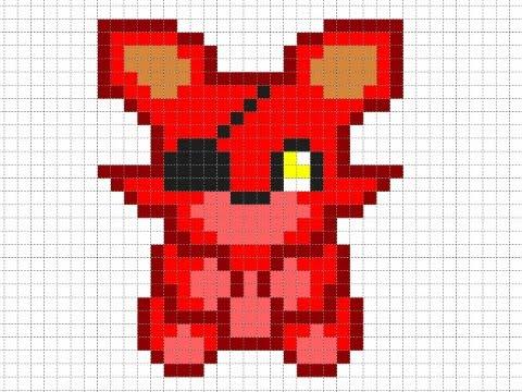 Como Hacer A Foxy Pixelado Kawaiipixelart Tuto