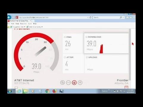 Frontier Lan, versus Wifi, A short Internet Speed Test Video