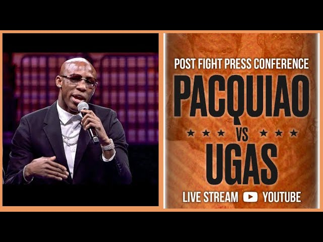 PRESS CONFERENCE YORDENIS UGAS WIN VS MANNY PACQUIAO