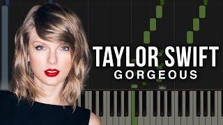 Gorgeous - Taylor Swift | Piano Tutorial & Sheet Music