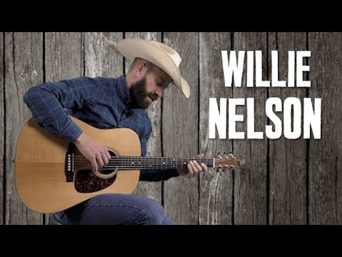 Willie Nelson Country Strumming Fills Style Of Blue Eyes Crying