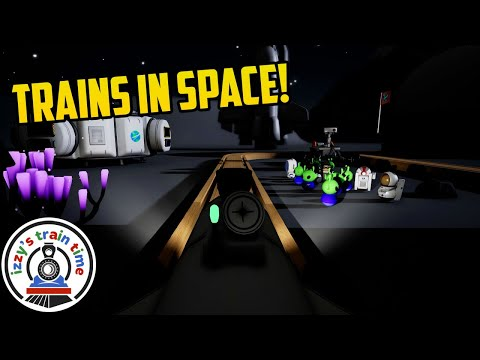 SPACE TRAINS! Tracks The Train Set Game SPACE UPDATE |