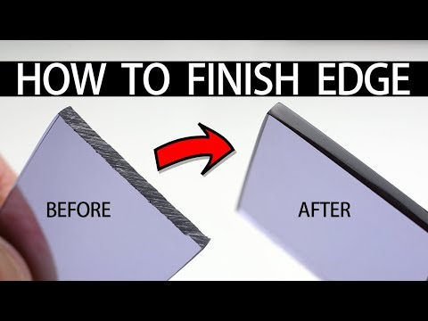 HOW TO CUT + FINISH PERSPEX ACRYLIC EGDE w HAND TOOLS