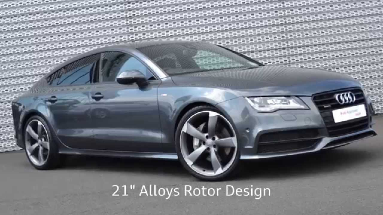 audi sligo audi a7 sportback 3 0tdi bi turbo s line black edition 313hp youtube. Black Bedroom Furniture Sets. Home Design Ideas