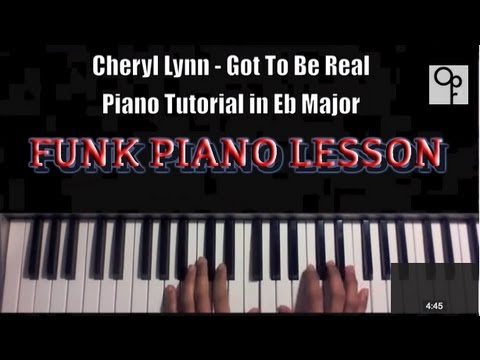 Cheryl Lynn Got To Be Real Old School Funk Piano Tutorial