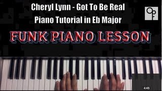 Cheryl Lynn - Got To Be Real ( Old School FUNK ) Piano Tutorial