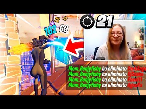 MAMMA di BENJYFISHY NUOVA PRO PLAYER di FORTNITE!! Reaction