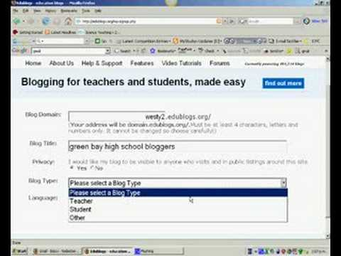 creating an edublog