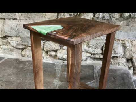 Walnut and Epoxy Resin Table