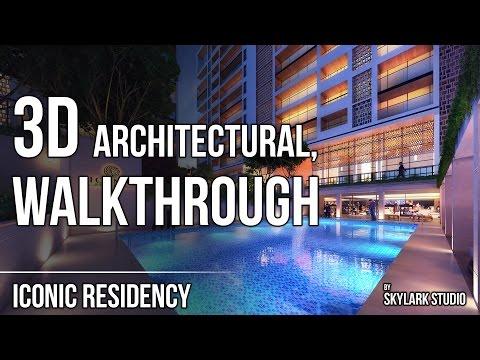 3D ARCHITECTURAL WALKTHROUGH |  ICONIC RESIDENCY |  SKYLARK STUDIO