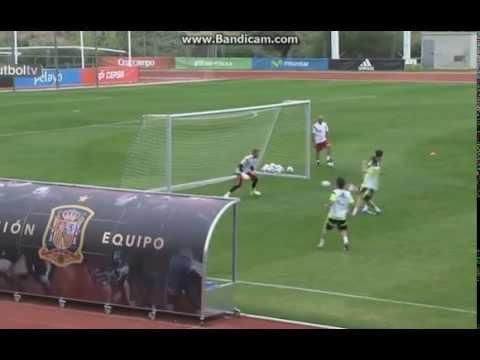 Amazing Backheel Goal Cesc Fabregas Assist Torres Training Spain