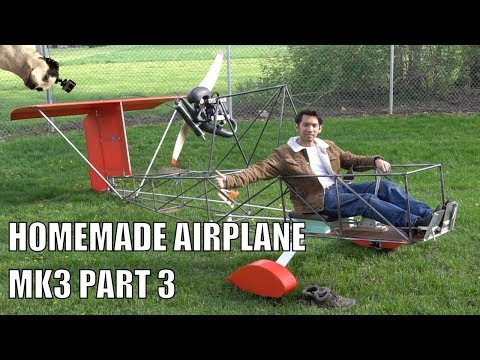 HOMEMADE ultralight airplane mk3 part 3