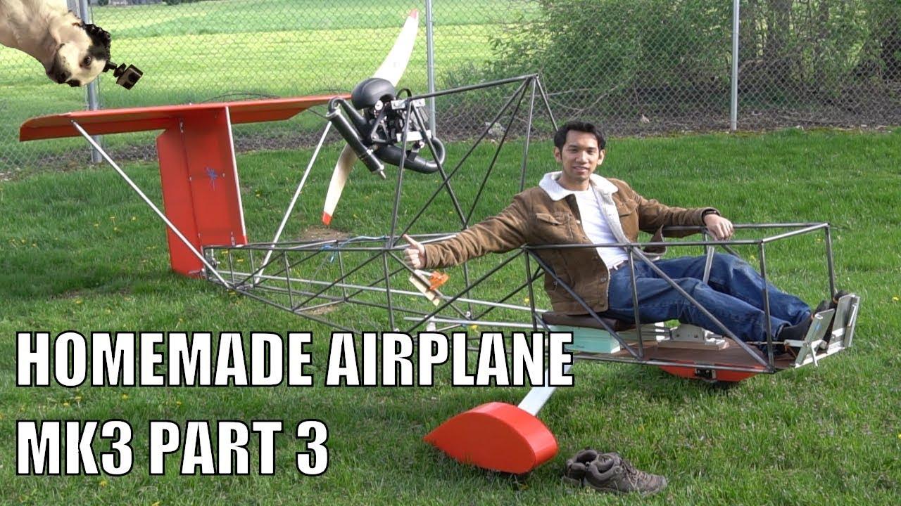 HOMEMADE ultralight airplane mk3 part 3