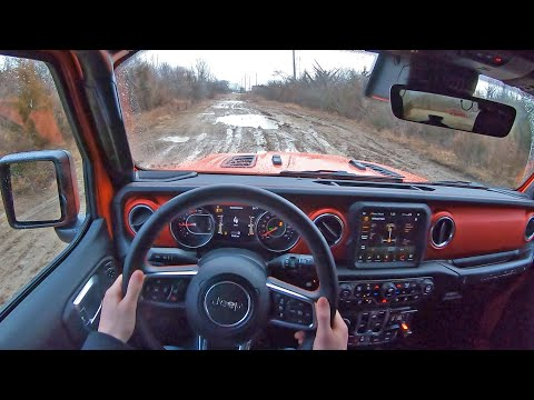 2020 Jeep Wrangler Unlimited Rubicon EcoDiesel - Rainy POV Test Drive (Binaural Audio)
